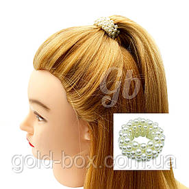 Резинка для волос с жемчужинами маленькая