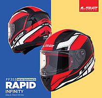 Мото шлемLS2 FF353 Rapid Infinity  Black Red White