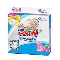Підгузники GOO.N для новонароджених до 5 кг (розмір SS, на липучках, унісекс, 90 шт)