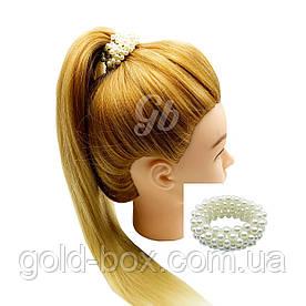 Резинка для волос с жемчужинами большая