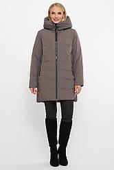Теплая женская зимняя куртка с капюшоном большие размеры