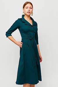 Вишукане класичне плаття Delisa, темно-зелений