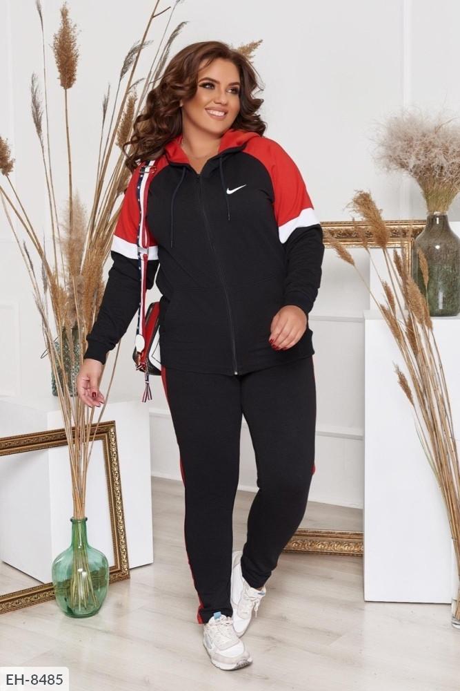 Трикотажный женский спортивный костюм Размер: 50,52,54,56