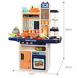 Большая детская кухня 889-161 с водой и паром, (свет, звук) 65 предметов, фото 3