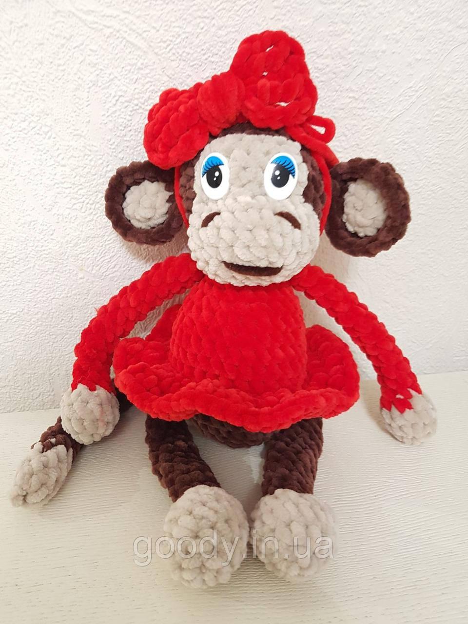 М'яка іграшка мавпа із плюшевої пряжі 30 cm