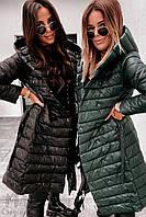 Женская зимняя куртка-пальто синтепон 200 новинка 2020