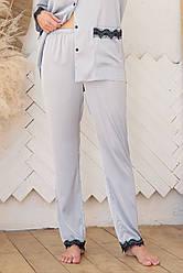 Сірі домашні шовкові штани жіночі