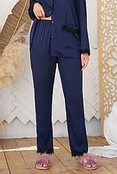 Жіночі домашні сині штани з шовку армані