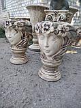 Шамотные вазоны. Вазон для цветов Фея 59 см, фото 4