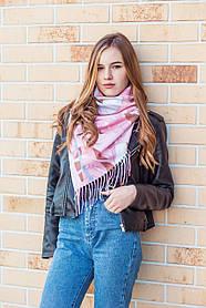 🔥НОВИНКА!!! Кашемировый мягкий розовый платок с бахромой LEONORA