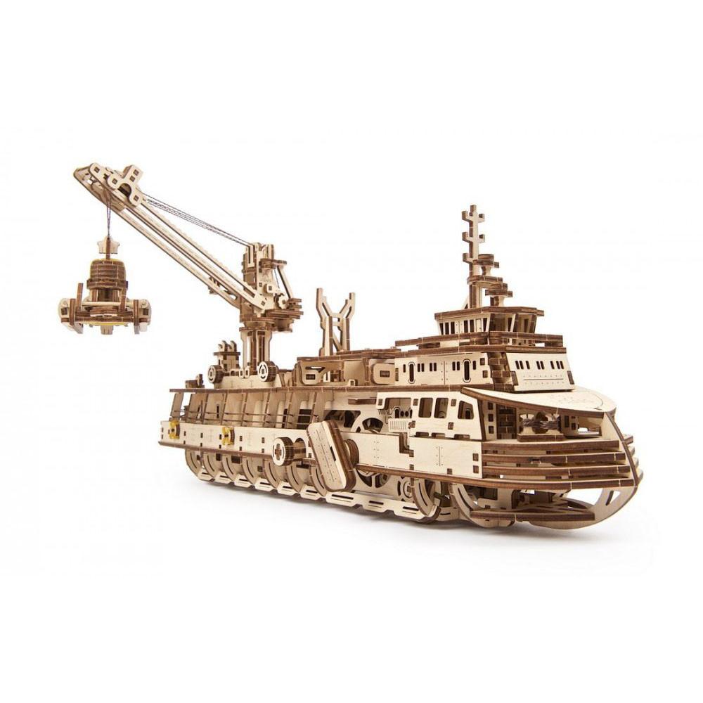 Механический 3D пазл Научно-исследовательское судно UGEARS