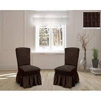 Универсальный чехол на стул чехлы на стулья Шоколад, фото 1