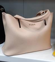 Стильная Женская сумка ZARA из экокожи . Пудра