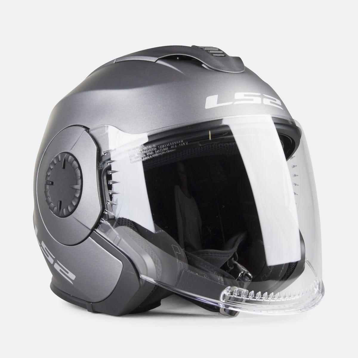 МОТОШОЛОМ LS2 OF570 Verso Single Mono Open Face Helmet Matte Titanium титан
