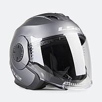 МОТОШОЛОМ LS2 OF570 Verso Single Mono Open Face Helmet Matte Titanium титан, фото 1