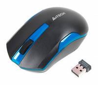 Мышь беспроводная A4Tech G3-200N Black Blue USB V-Track, КОД: 1904205