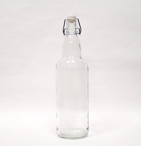 Бутылка litva с бугельной пробкой 1 литр прозрачная