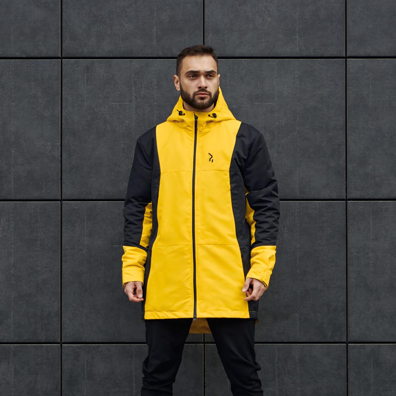 Куртка демисезонная мужская Огонь Пушка Horn черно-желтая