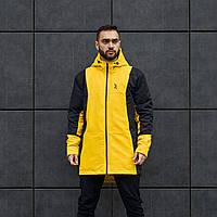 Куртка демисезонная мужская Огонь Пушка Horn черно-желтая, фото 1