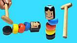 Волшебная игрушка - небьющийся маленький деревянный человек, фото 5