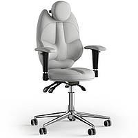 Кресло KULIK SYSTEM TRIO Экокожа с подголовником без строчки Белый 14-901-BS-MC-0202, КОД: 1676905