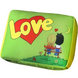 Подушка в форме жвачки салатовая Love 34х25х12 см (LP_L001)