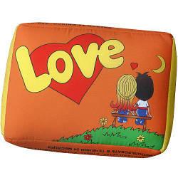 Подушка у формі жуйки помаранчева Love 34х25х12 см (LP_L005)