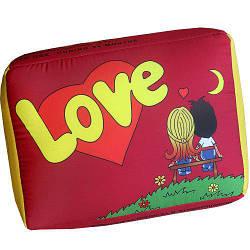Подушка у формі жуйки червона Love XXL 50x36x17 см (XLP_L003)