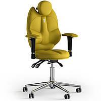 Кресло KULIK SYSTEM TRIO Экокожа с подголовником без строчки Желтый 14-901-BS-MC-0211, КОД: 1676912