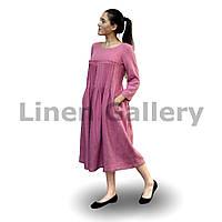 Сукня лляна Джоконда рожева