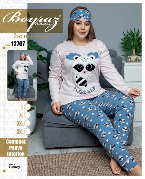 Пижама женская размеры от L до 4XL  BOYRAZ 12707