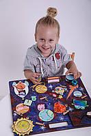 Бізіборд для хлопчика Intellect Wood космос 45*40 (b00011)