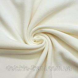 Однотонний фліс молочного кольору, ширина 150м