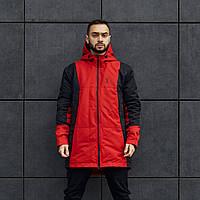 Куртка демісезонна чоловіча Пушка Огонь Horn чорно-червона, фото 1