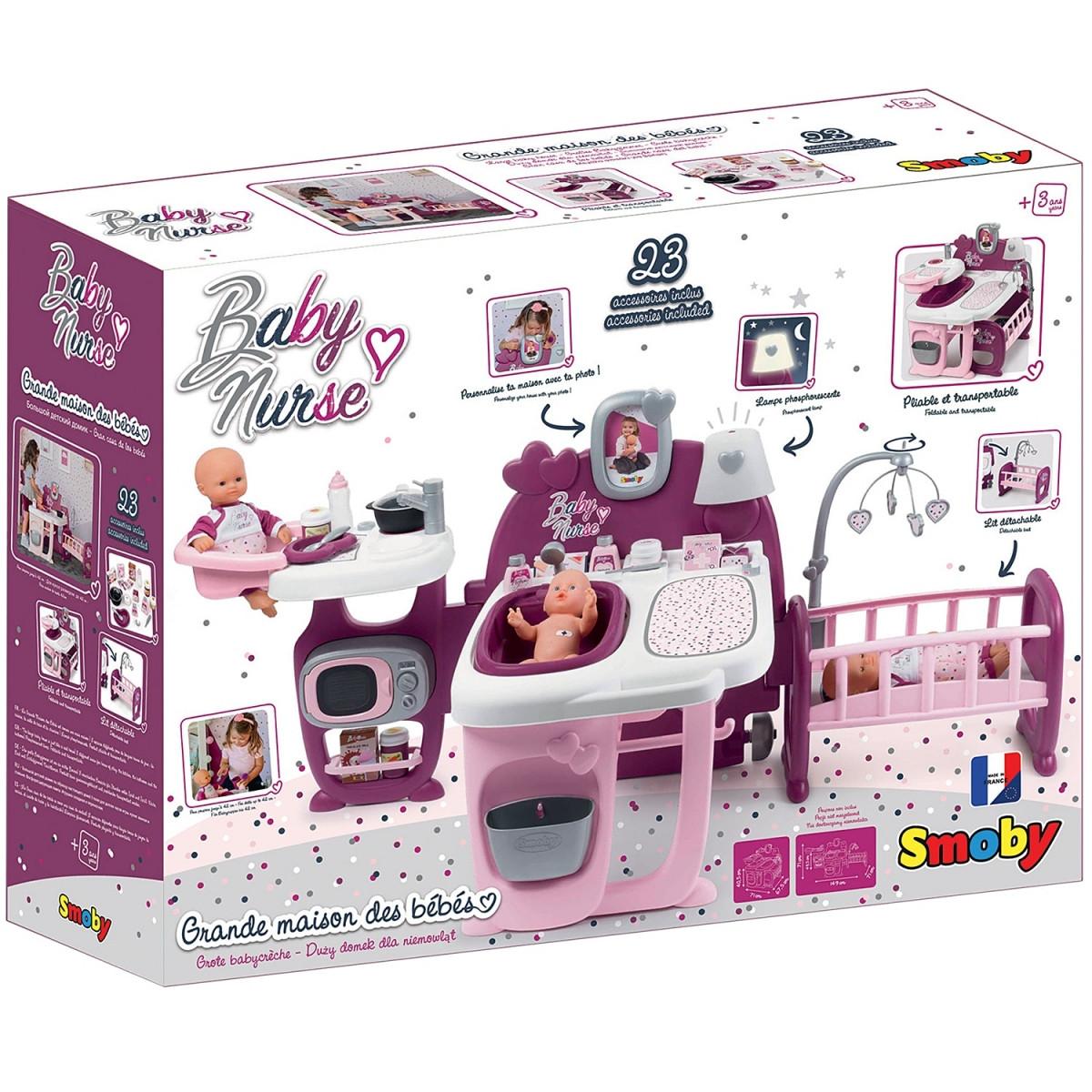 Большой игровой центр Smoby Toys Baby Nurse Прованс комната малыша с кухней, ванной, спальней и аксессуарами