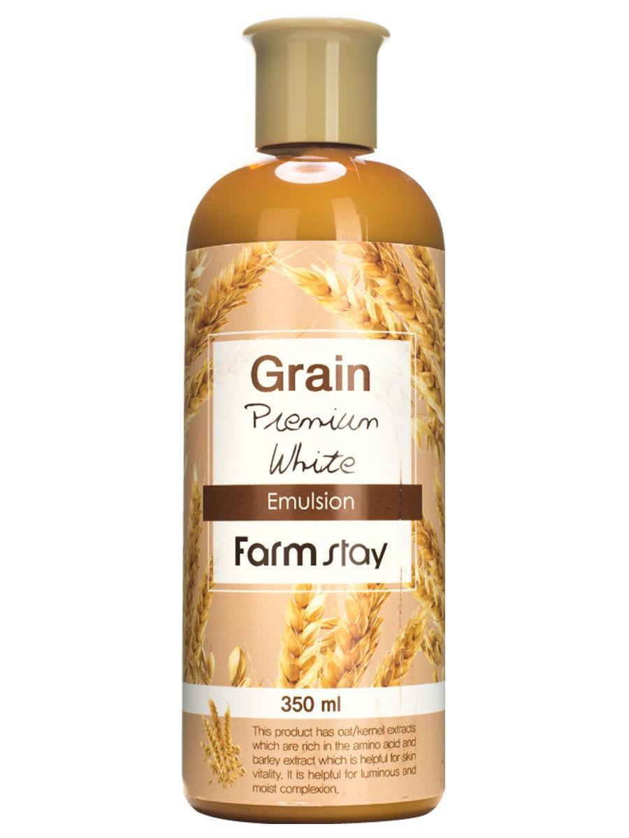 Питательная эмульсия для лица с экстрактами ростков пшеницы Farmstay Grain Premium White Emulsion 350 мл