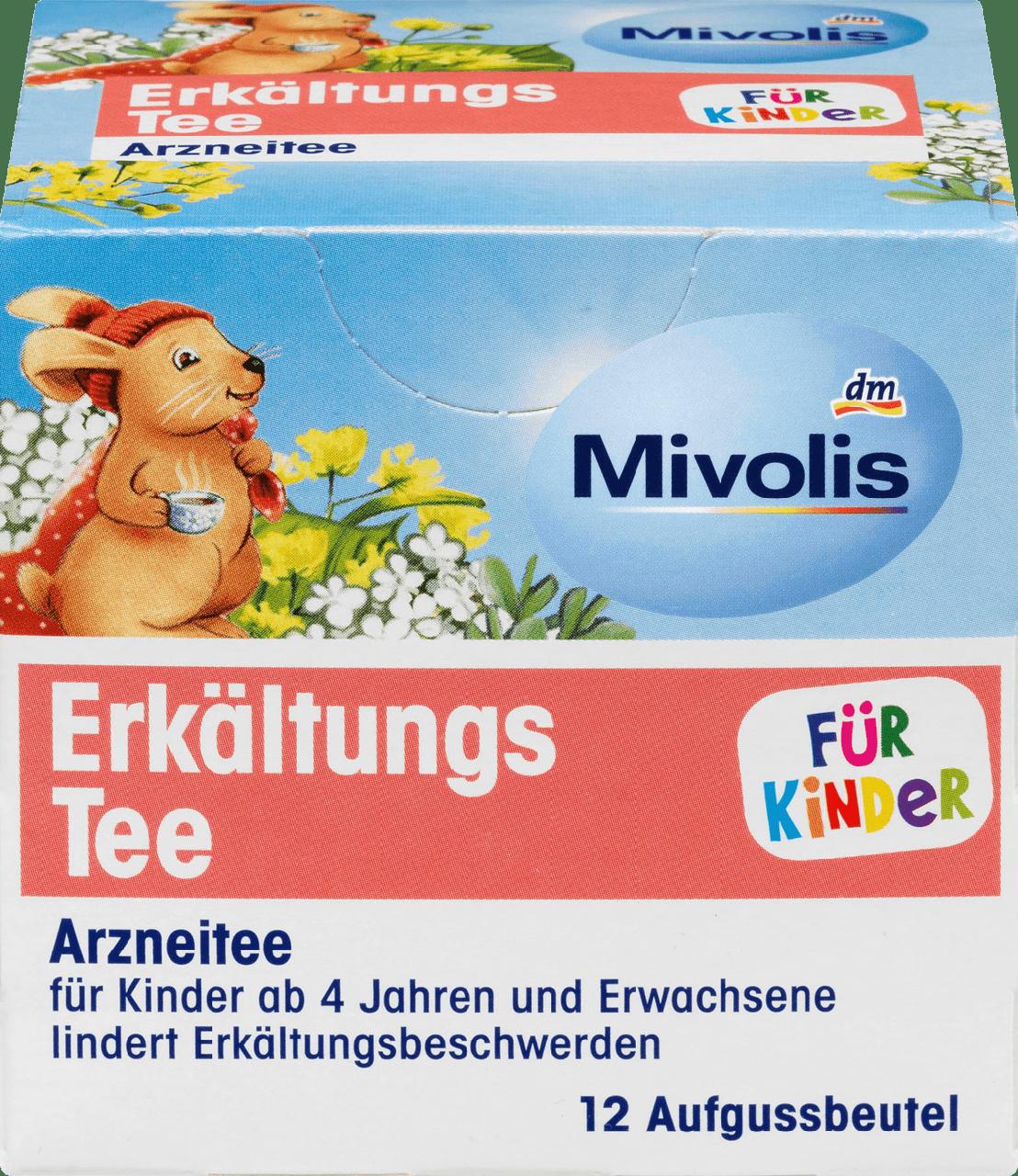 Лечебный чай от простуды для детей Mivolis Erkältungs-tee, 12 шт.
