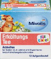 Лечебный чай от простуды для детей Mivolis Erkältungs-tee, 12 шт., фото 1