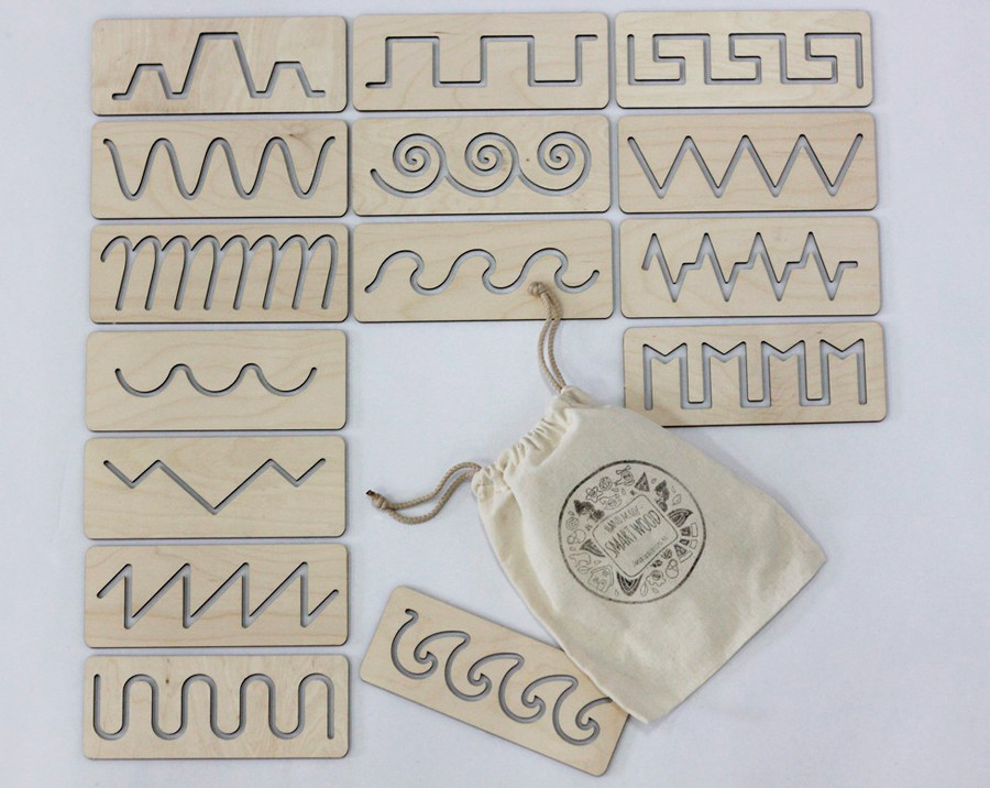 Трафареты первого письма в мешочке SMARTKIDS | Игры на логику | Логические игры | Развивающие игрушки