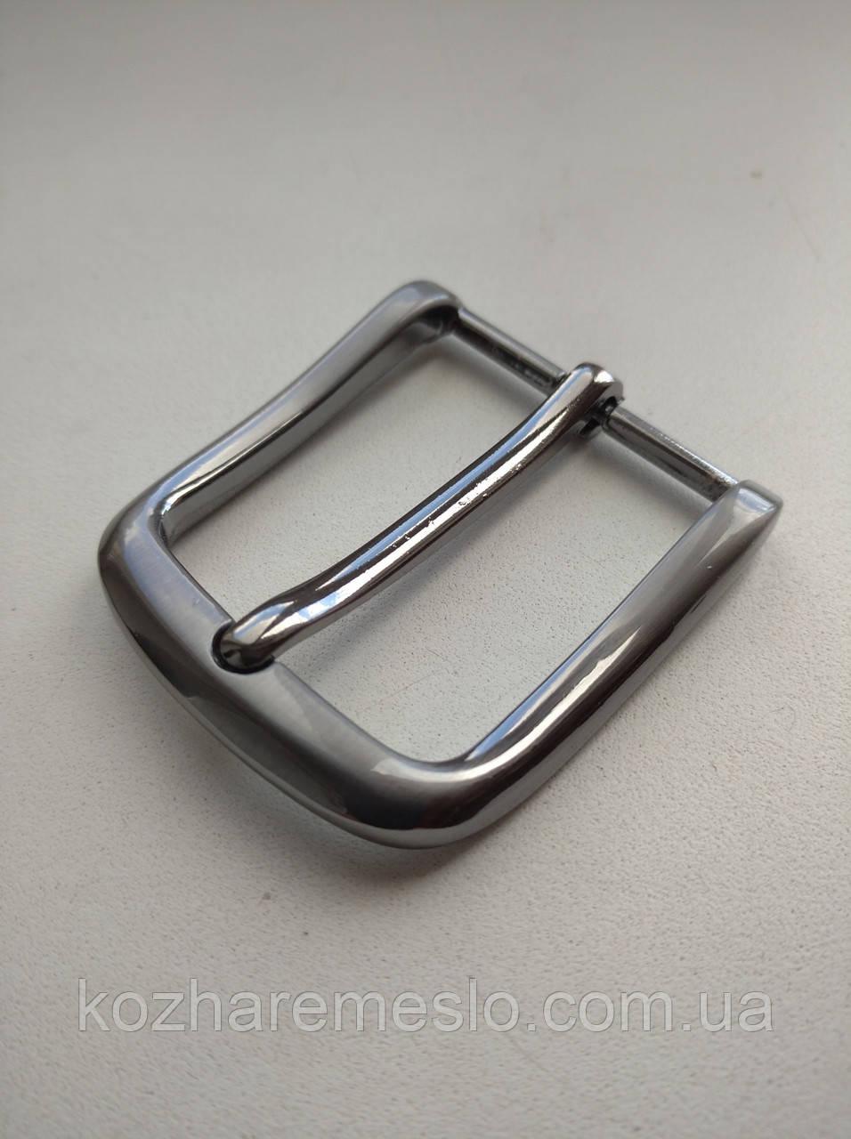 Пряжка для ремня 40 мм тёмный никель