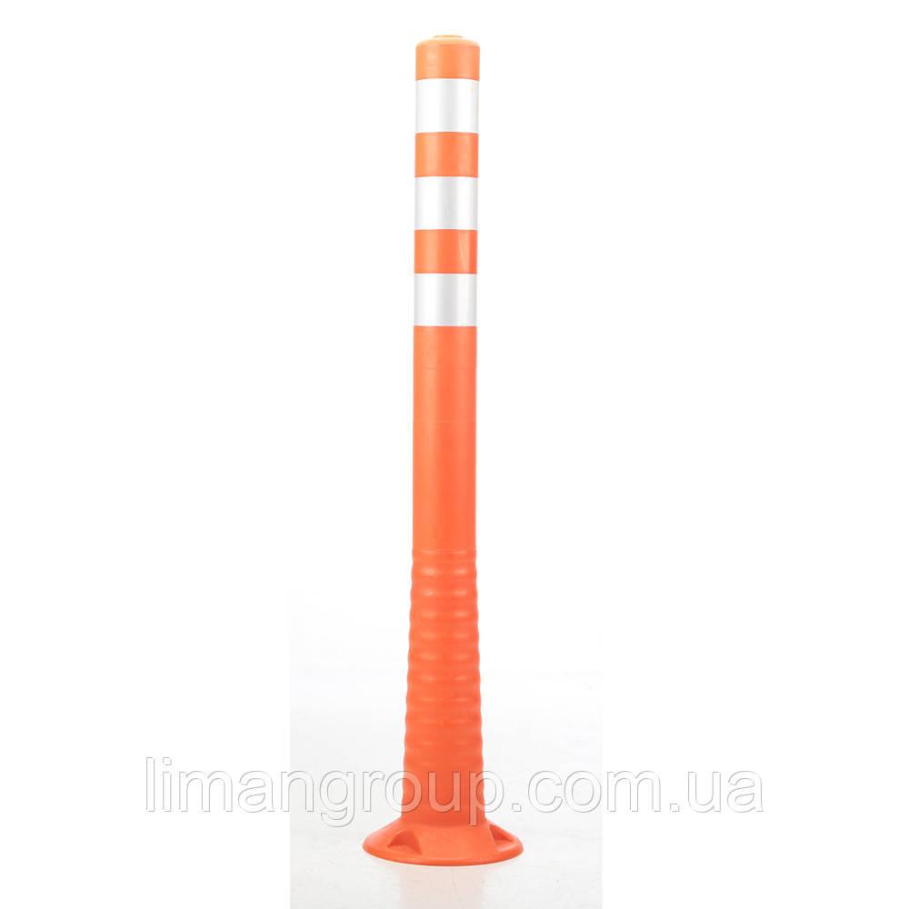 Столбик дорожный оградительный сигнальный 1000 мм белая лента