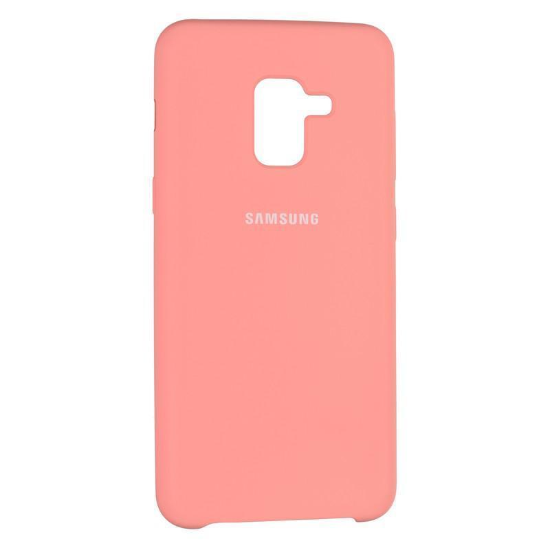 Чехол Silicone Case оригинальный для Samsung Galaxy A8 2018 A530 Pink (29)