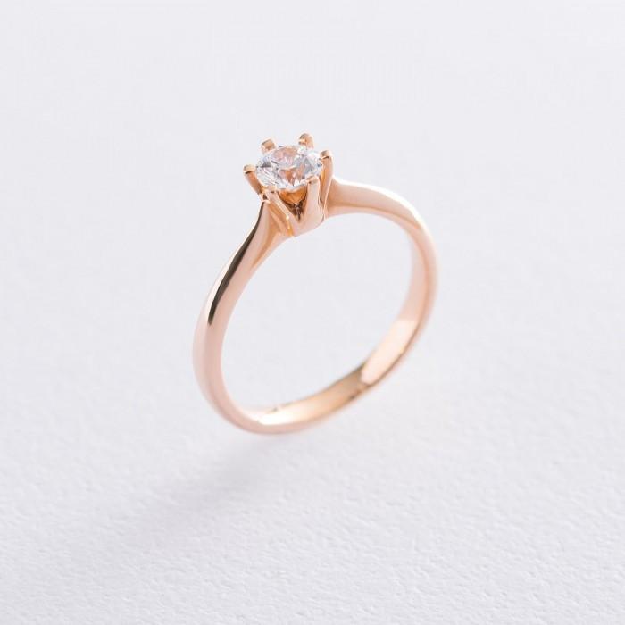 Золотое помолвочное кольцо (циркон Swarovski) гк06256