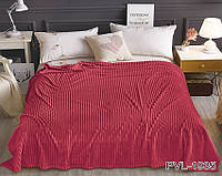 Плед на диван микрофибра красный 160х220 ALM1935