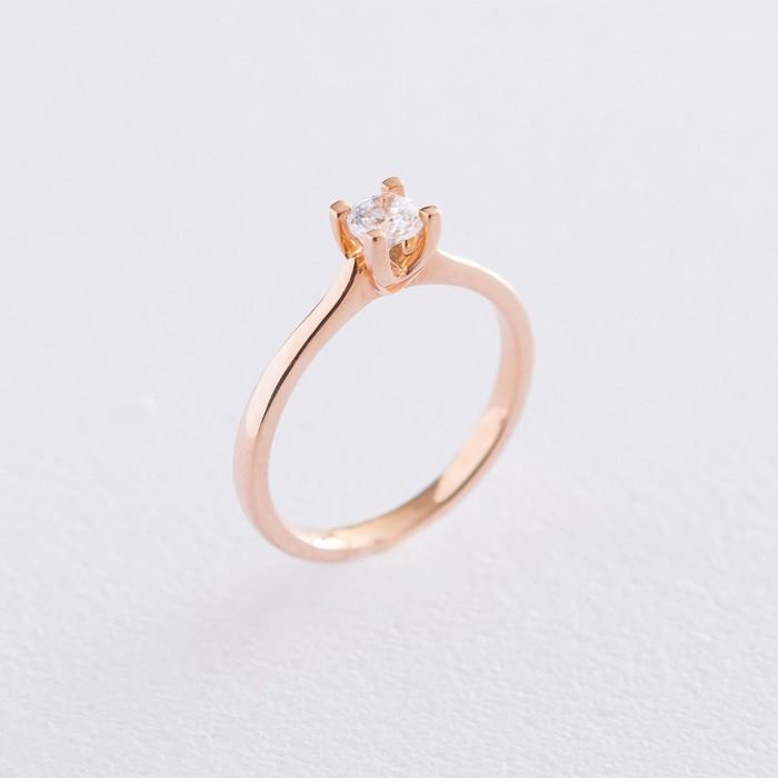 Золотое помолвочное кольцо (циркон Swarovski) гк06257
