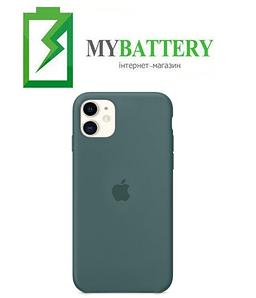 Чехол Silicone Case original (чехол-бампер) iPhone 11 зеленый (55)