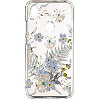 Чехол Diamond Younicou для Samsung Galaxy A20s A207 Blue Flowers