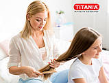 Щітка для волосся масажна овальної форми з клена комбінована з натуральною щетиною Titania арт.2862, фото 9