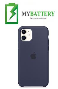 Чехол Silicone Case original (чехол-бампер) iPhone 11 Темно-синий (8)