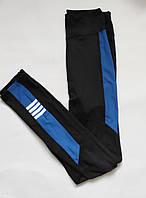 Жіночі спортивні жіночі для фітнесу висока посадка Біфлекс Чорний + синій, фото 1